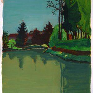 Pond # 1, 41 x 29,8 cm, acrylic on paper, 2013