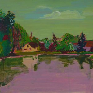 Pond # 2, 25 x 50 cm, acrylic on paper, 2013