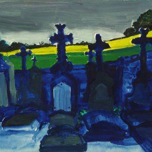 Graveyard # 1, 24 x 32 cm, acrylic on paper, 2013