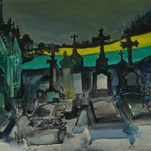 Graveyard # 2, 31 x 41 cm, acrylic on paper, 2013