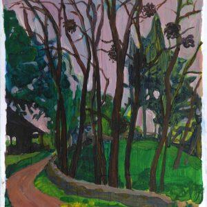 Mistletoe # 1, 41 x 29,8 cm, acrylic on paper, 2013