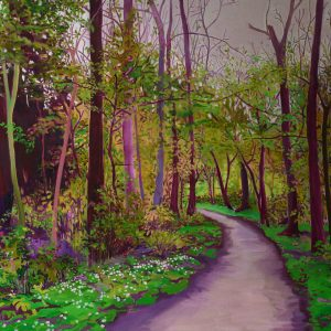 Path, 100 x 135 cm, oil on canvas, 2014