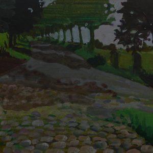 Crossroads # 2 (Kasseien), 25 x 50 cm, acrylic on paper, 2014