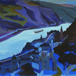 Rhine valley, 32 x 48 cm, acrylic on paper, 2015