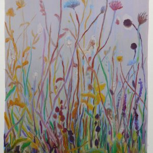 Bermbloemen # 1, 50 x 35 cm, oil on paper, 2016