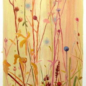 Bermbloemen # 3, 50 x 35 cm, oil on paper, 2016