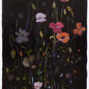 Bermbloemen # 11, 50 x 35 cm, oil on paper, 2016