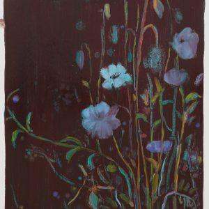 Bermbloemen # 12, 50 x 35 cm, oil on paper, 2016