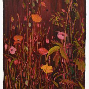 Bermbloemen # 13, 50 x 35 cm, oil on paper, 2016