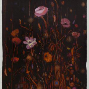 Bermbloemen # 14, 50 x 35 cm, oil on paper, 2016
