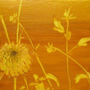 Dahlia # 1, 25 x 25 cm, oil on canvas, 2016