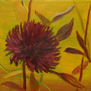 Dahlia # 2, 25 x 25 cm, oil on canvas, 2016