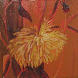 Dahlia # 3, 25 x 25 cm, oil on canvas, 2016