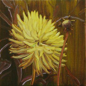 Dahlia # 5, 25 x 25 cm, oil on canvas, 2016