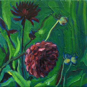 Dahlia # 6, 25 x 25 cm, oil on canvas, 2016