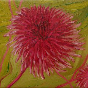 Dahlia # 7, 25 x 25 cm, oil on canvas, 2016