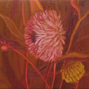 Dahlia # 8, 25 x 25 cm, oil on canvas, 2016