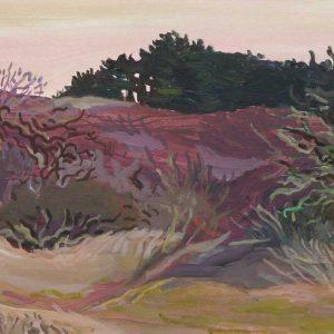 Duinen Bloemendaal (Erebegraafplaats), 25 x 50 cm, acrylic on paper, 2017