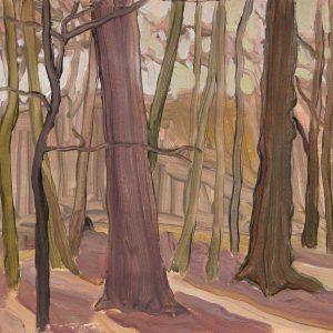 Haarlemmerhout, 25 x 40 cm, acrylic on paper, 2017