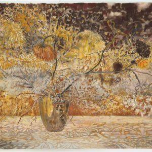 Yellow Vase, 98 x 146 cm, mixed media on paper, 2017