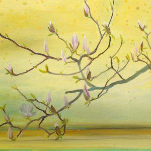 Magnolia, 85 x 95 cm, oil on canvas, 2017