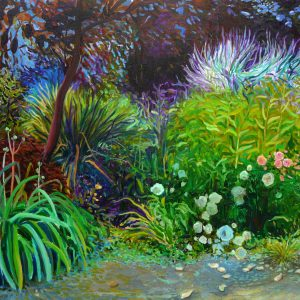 Kloostertuin # 6, 100 x 140 cm, oil on canvas, 2017