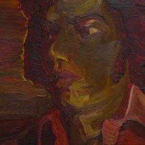 Eldorado # 14 - Blouse, 20 x 30 cm, oil on wood, 2019