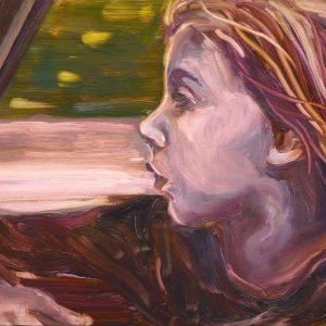 View # 12 - Déjà vu, 20 x 30 cm, oil on wood, 2018
