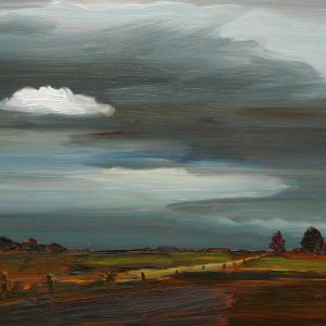 Laagland - Wolkje, 20 x 30 cm, oil on wood, 2019
