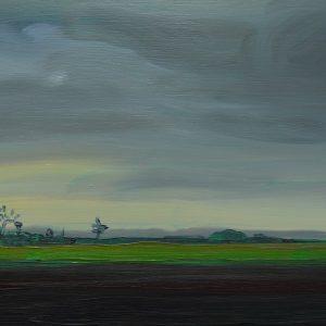 Laagland - Boerderij, 20 x 30 cm, oil on wood, 2019