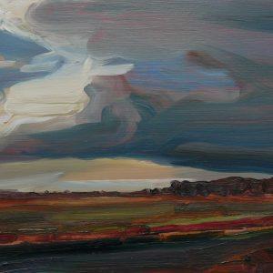 Laagland - Zwerk, 20 x 30 cm, oil on wood, 2019
