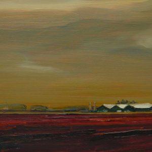 Laagland - Schuren, 20 x 30 cm, oil on wood, 2019