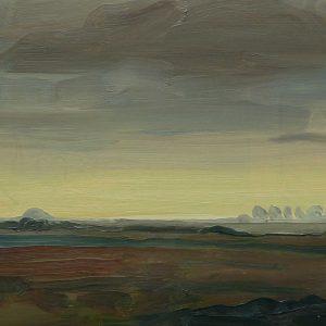 Laagland - Akker, 20 x 30 cm, oil on wood, 2019