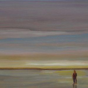 Laagland - Horizon, 20 x 30 cm, oil on wood, 2019