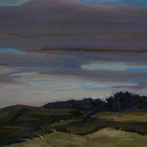 Duinen - Dennenbosje, 20 x 30 cm, oil on wood, 2019