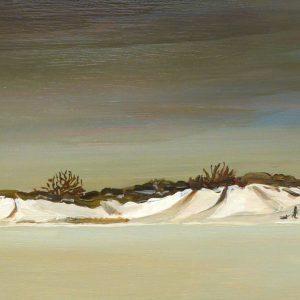 Duinen - Glijbaan, 22 x 52 cm, oil on wood, 2019