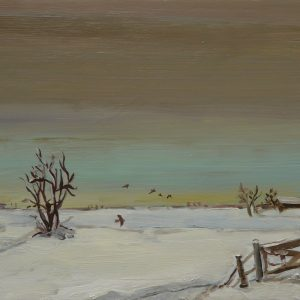 Laagland - Vogels, 20 x 30 cm, oil on wood, 2019
