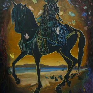 Black Rider, 170 x 140 cm, oil on canvas, 2019/20