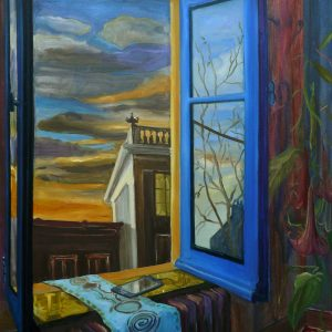 Blue Window, 140 x 100 cm, oil on canvas, 2020
