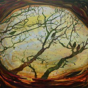 Hole, 140 x 180 cm, oil on canvas, 2020