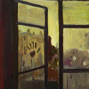 Hand, 20 x 17 cm, oil on perspex on wood, 2020