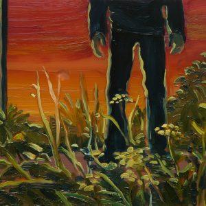 Roadside # 2, 17 x 20 cm, oil on perspex on wood, 2020