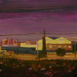 Pink Sky, 17 x 20 cm, oil on perspex on wood, 2020