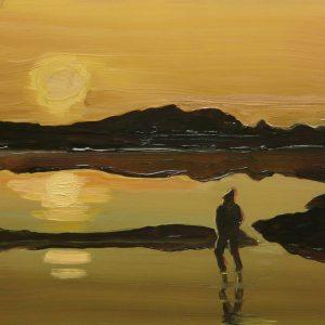 Lake, 17 x 20 cm, oil on perspex on wood, 2020