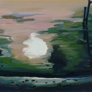 Oever, 17 x 20 cm, oil on perspex on wood, 2020
