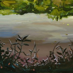 Oever # 2, 17 x 20 cm, oil on perspex on wood, 2020