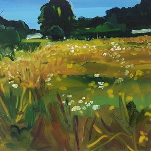 Field, 17 x 20 cm, oil on perspex on wood, 2020