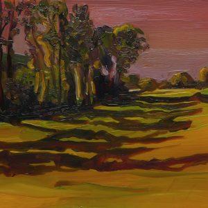 Populieren, 17 x 20 cm, oil on perspex on wood, 2020