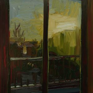View - Autumn, 20 x 17 cm, oil on perspex on wood, 202
