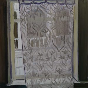 White Curtain, 20 x 17 cm, oil on perspex on wood, 2020